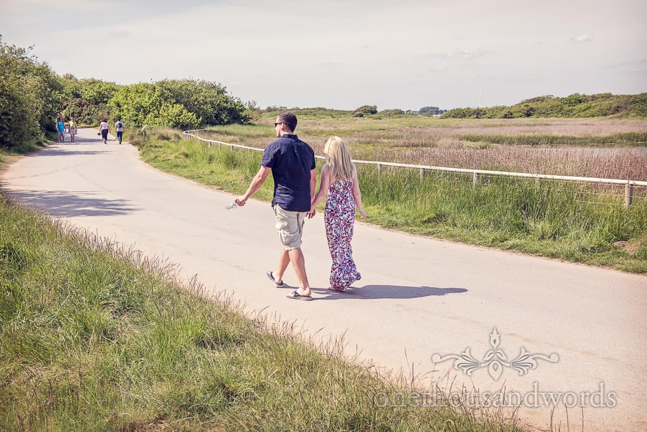 Hengistbury Head photographs engagement photo shoot