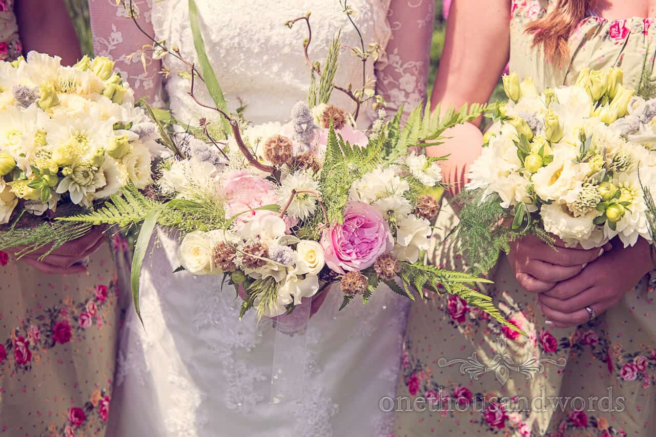 Country wedding photographs flowers by Bloom Florist