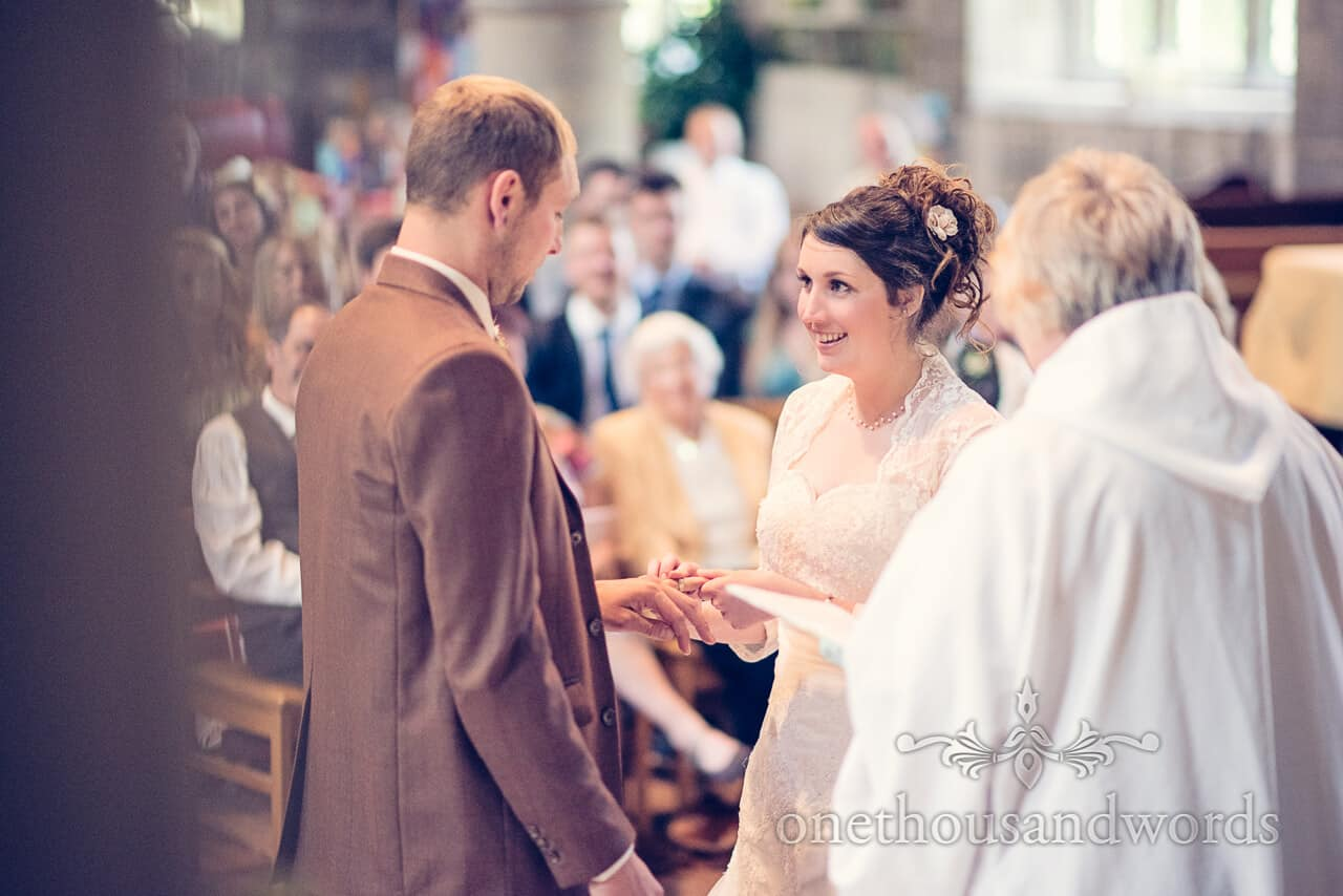 Exchange of rings photograph at Church wedding