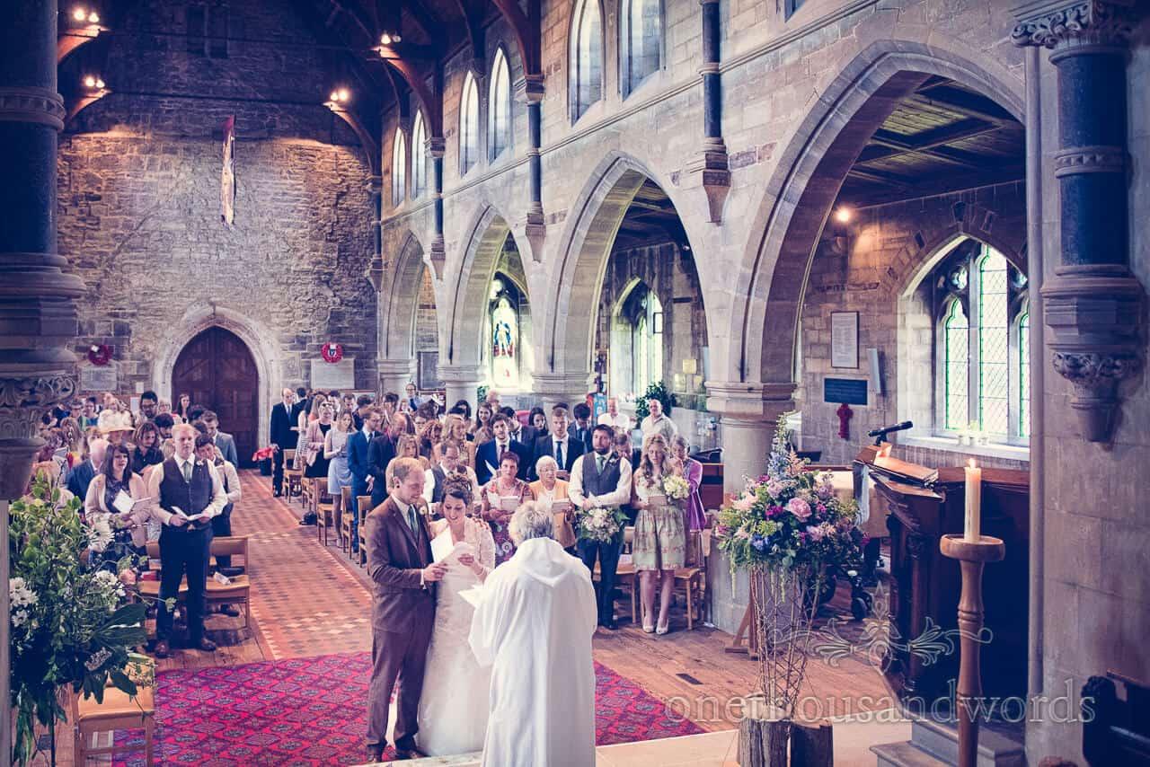 English country church wedding service