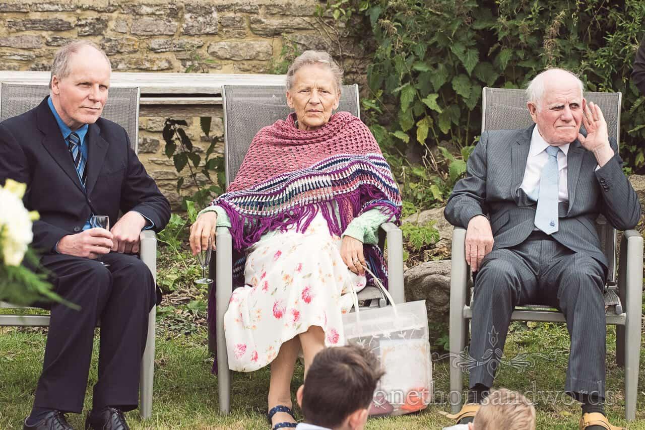 elderly wedding guests portrait
