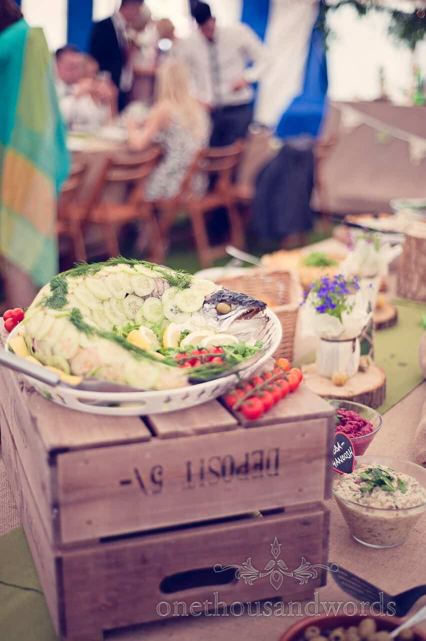 Wedding food Salmon