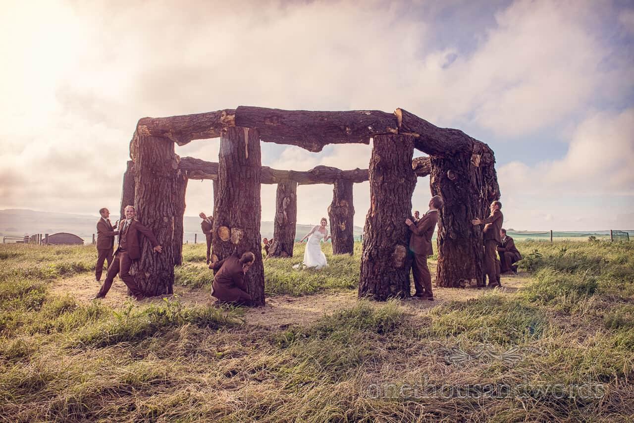 Woodhenge wedding photograph