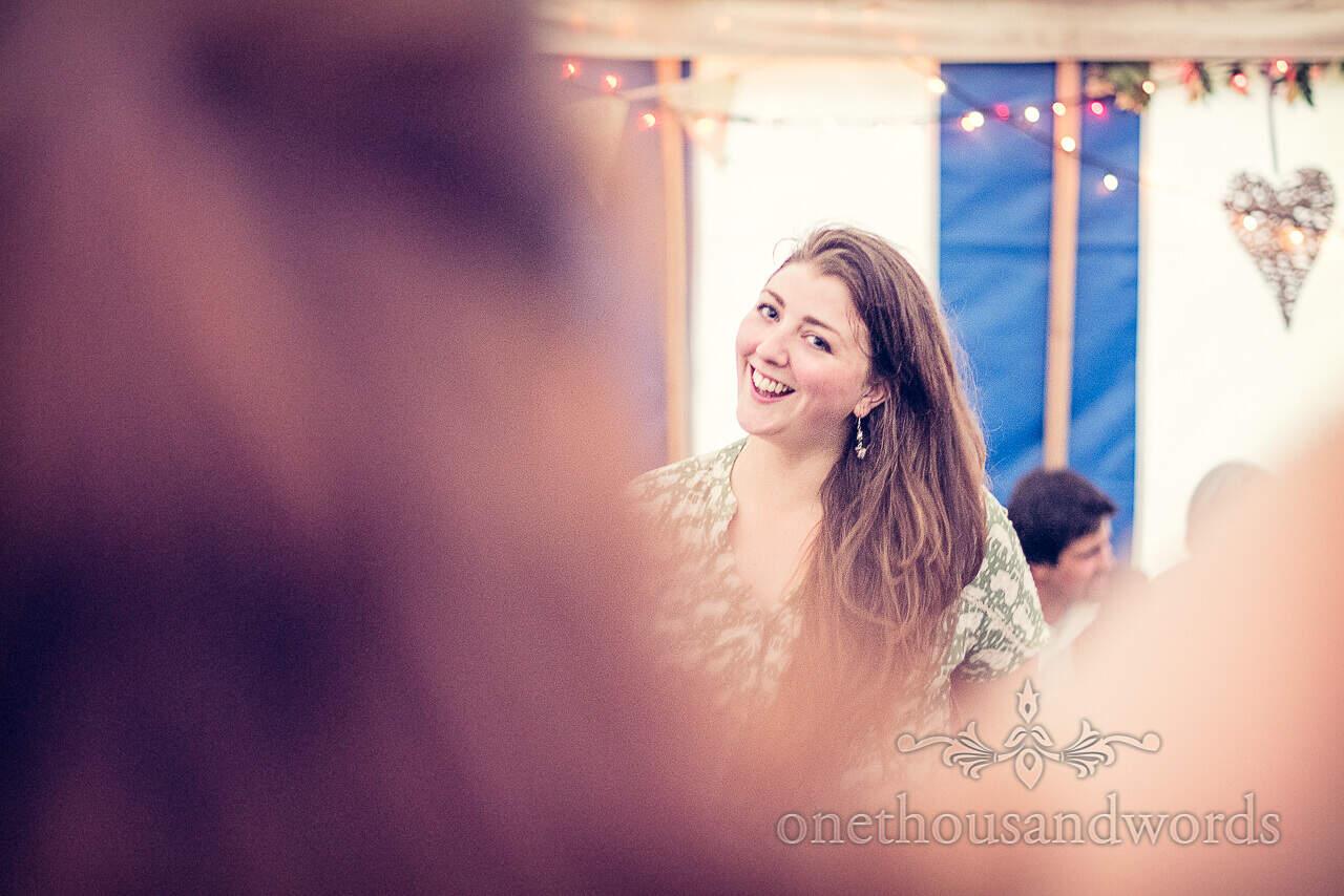 Wedding guest barn dancing