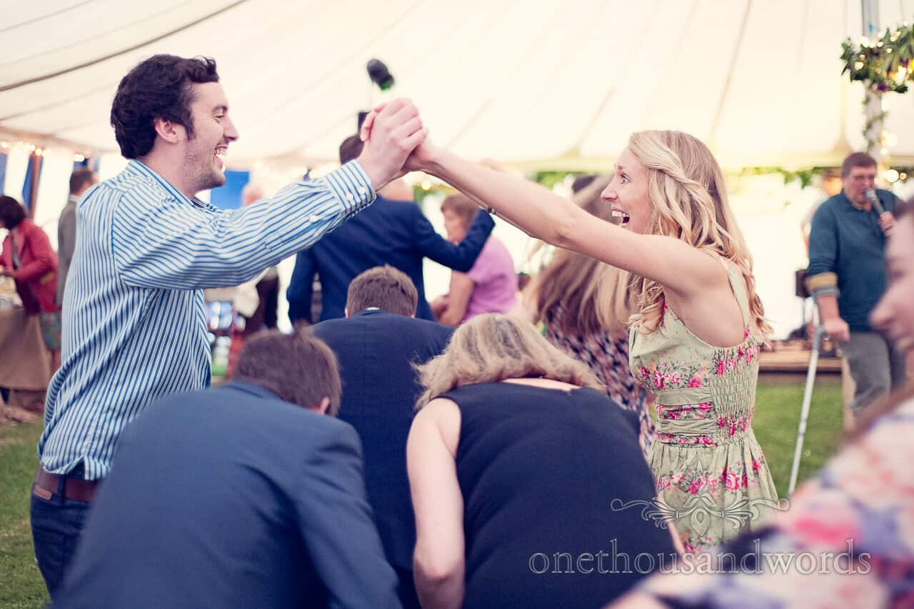 Wedding barn dance, Dorset country wedding photographs
