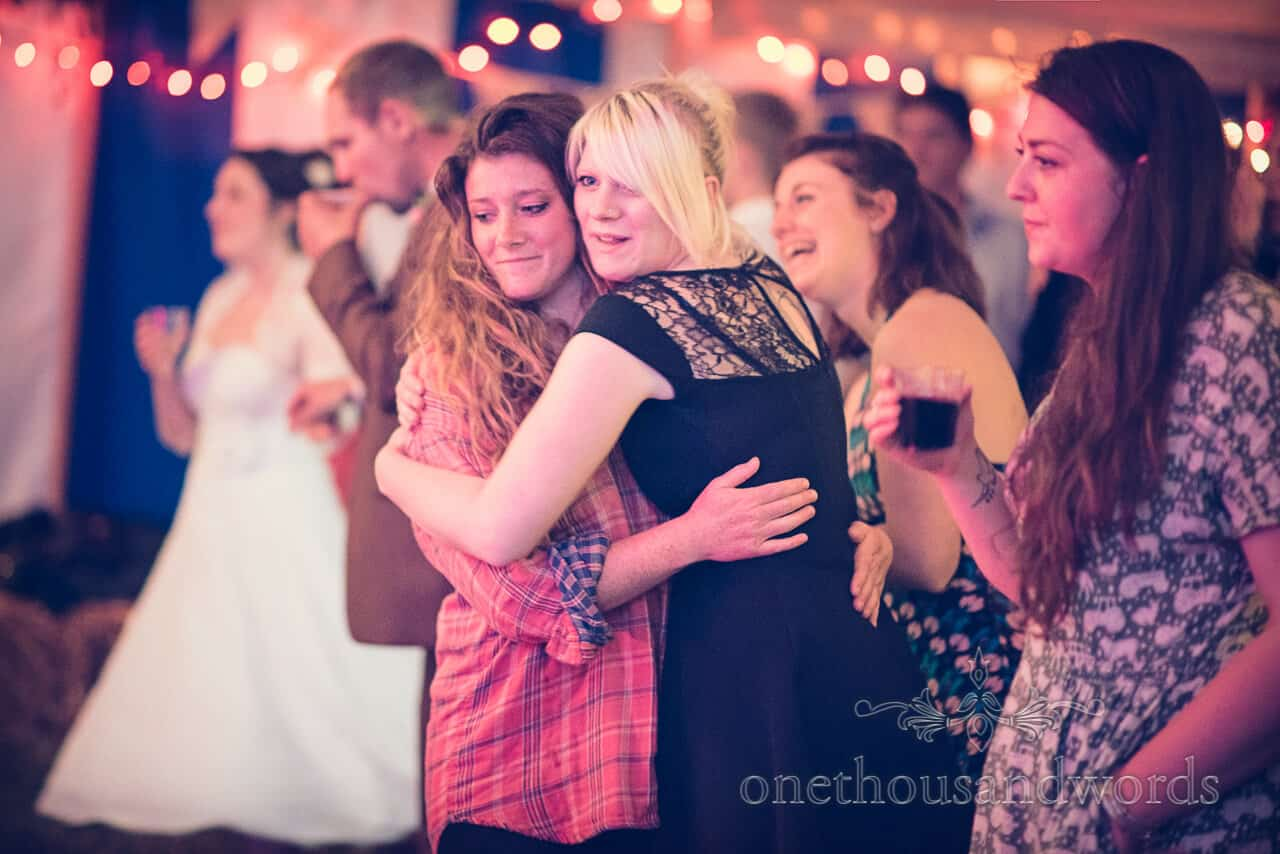 wedding guests dance to John Langham Band