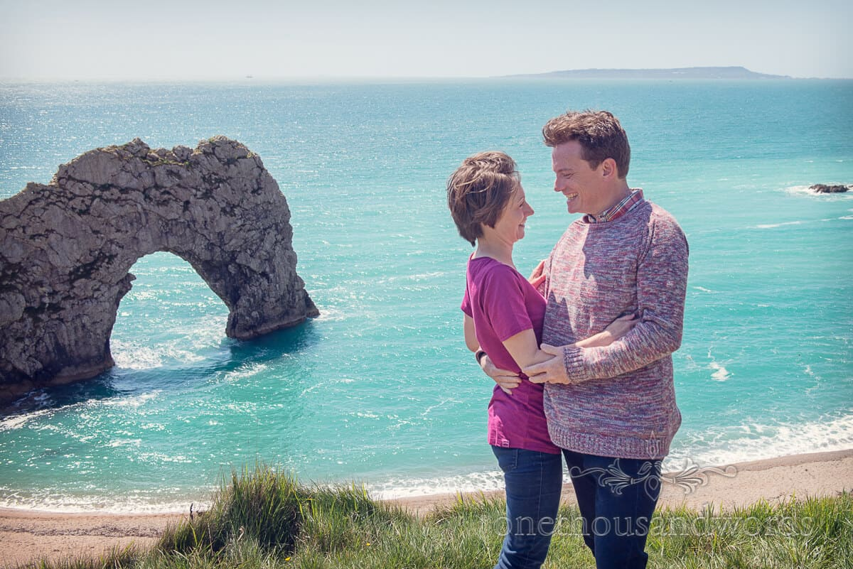 Durdledoor engagement photographs Arch