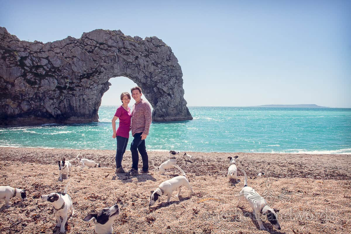 Durdledoor engagement photographs-Clone the dog