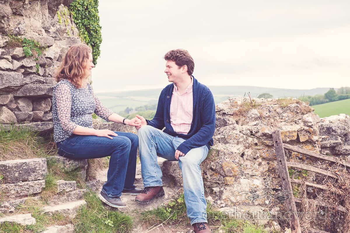 Corfe Castle Engagement Photographs With Naomi and Rob