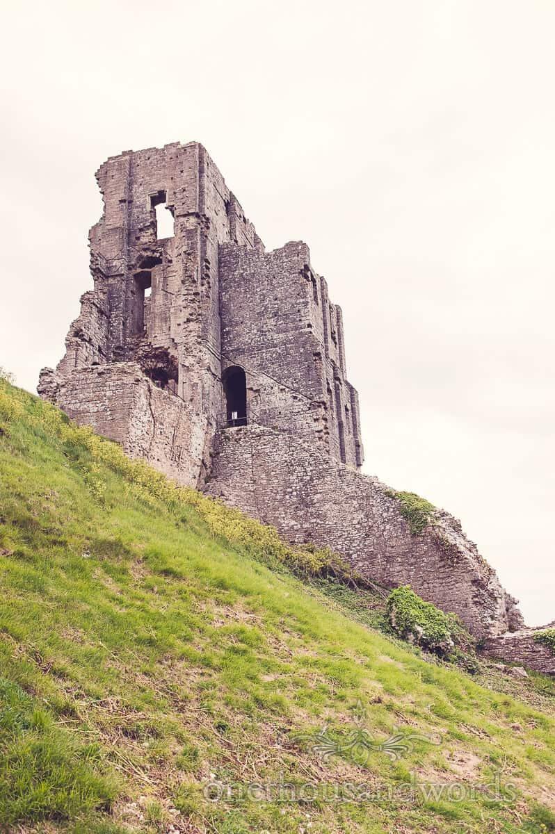 Corfe castle, ruined castle wedding venue in Dorset
