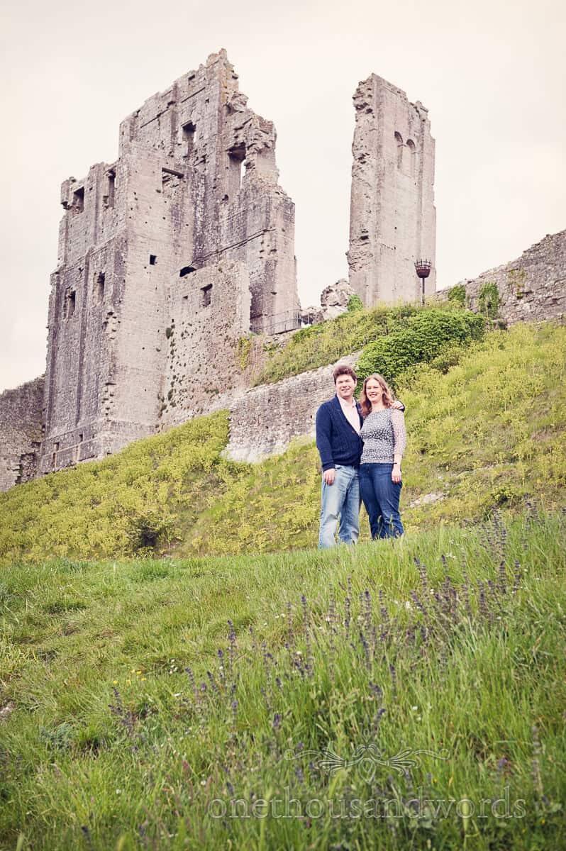 Corfe Castle, Dorset engagment photographs