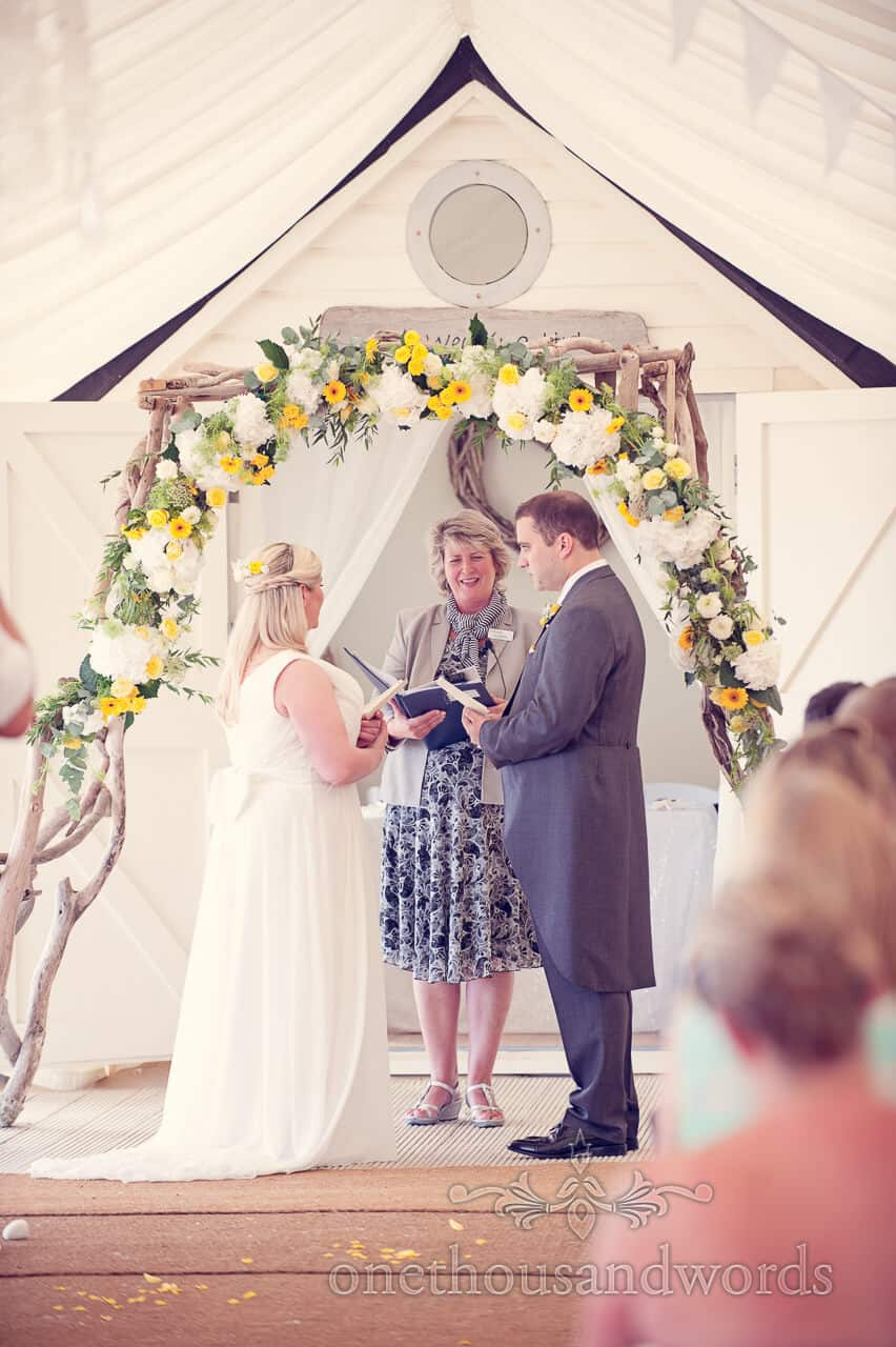 Beach wedding Bournemouth ceremony