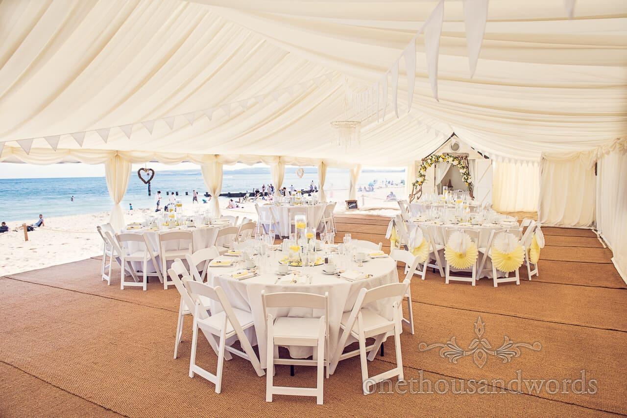 Beach wedding Bournemouth marquee