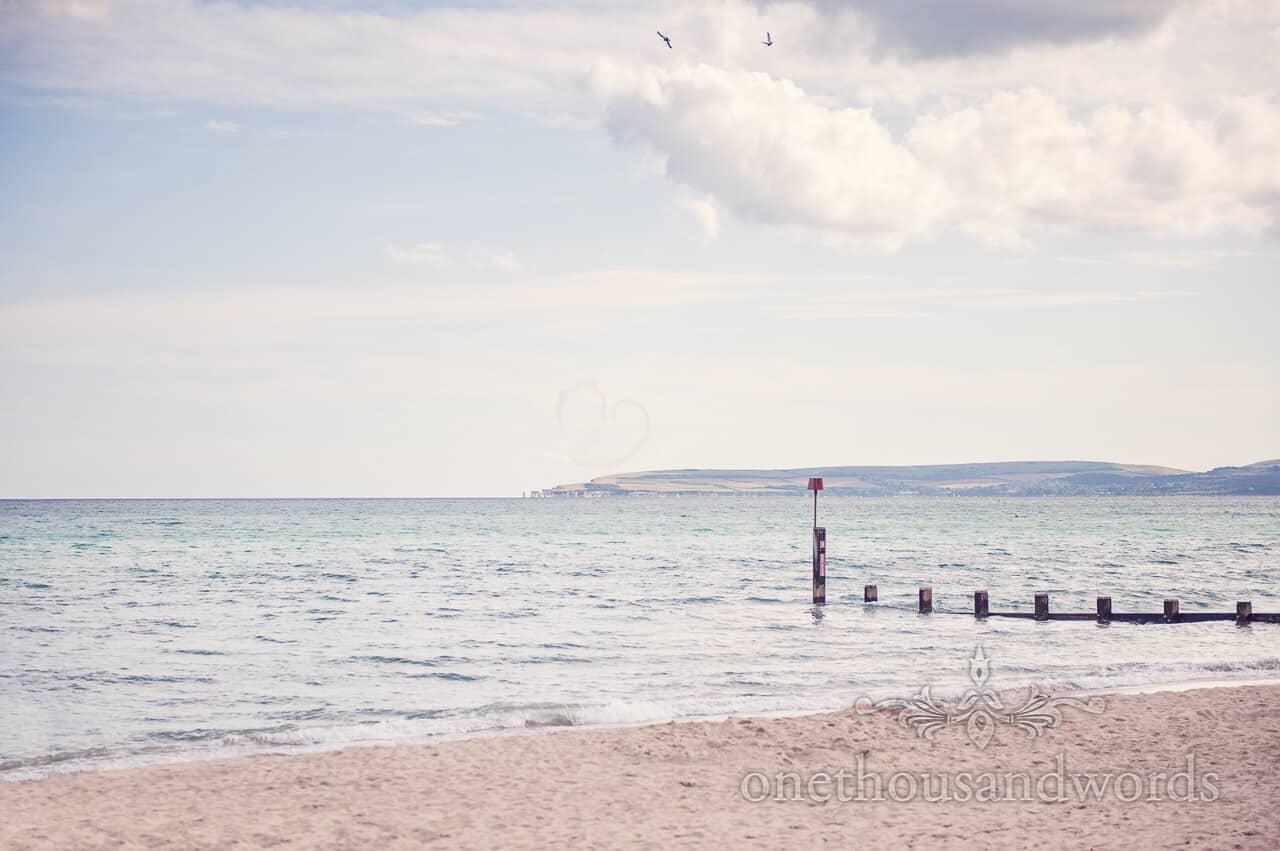 aerobatic love heart from Bournemouth Beach wedding
