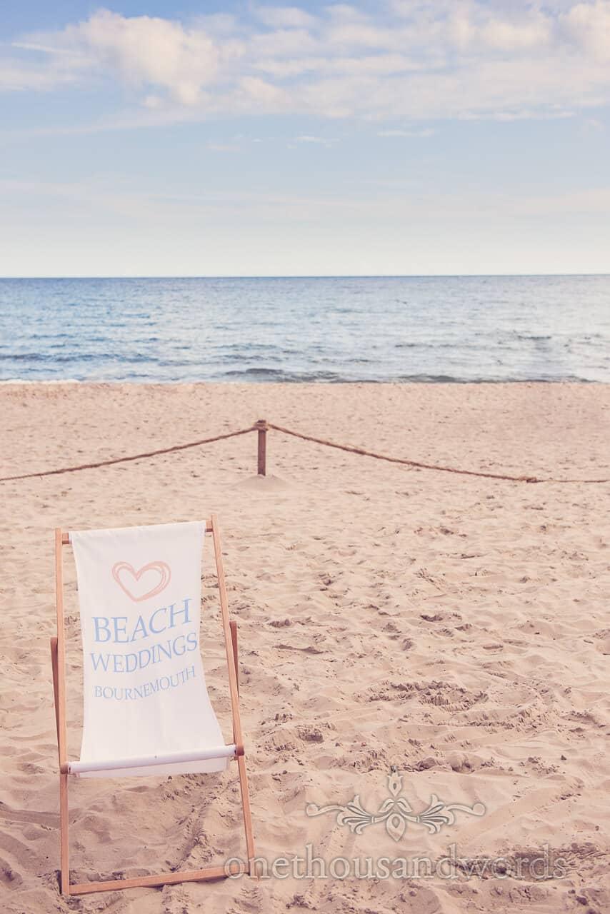 Bournemouth Beach wedding deck chair