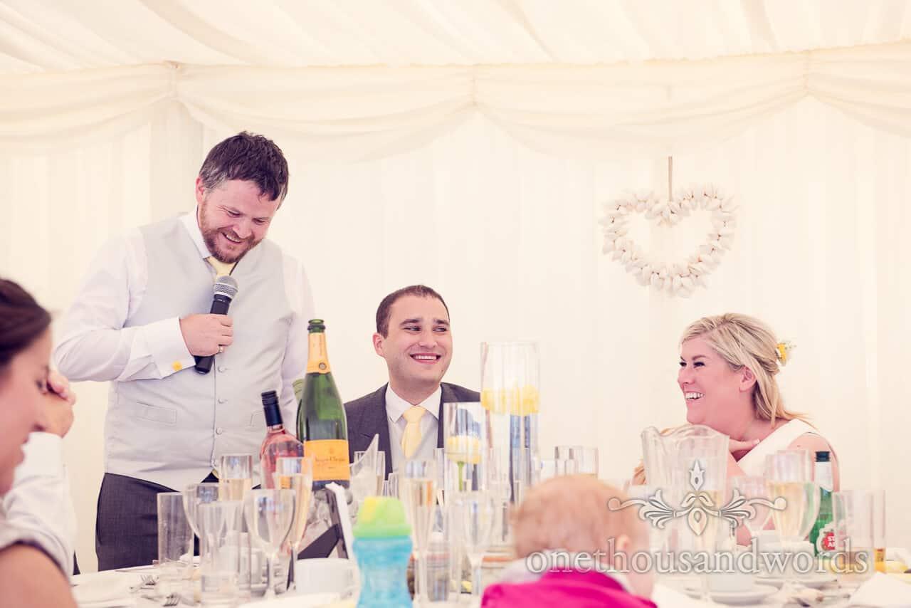 beach weddings bournemouth best man's speech