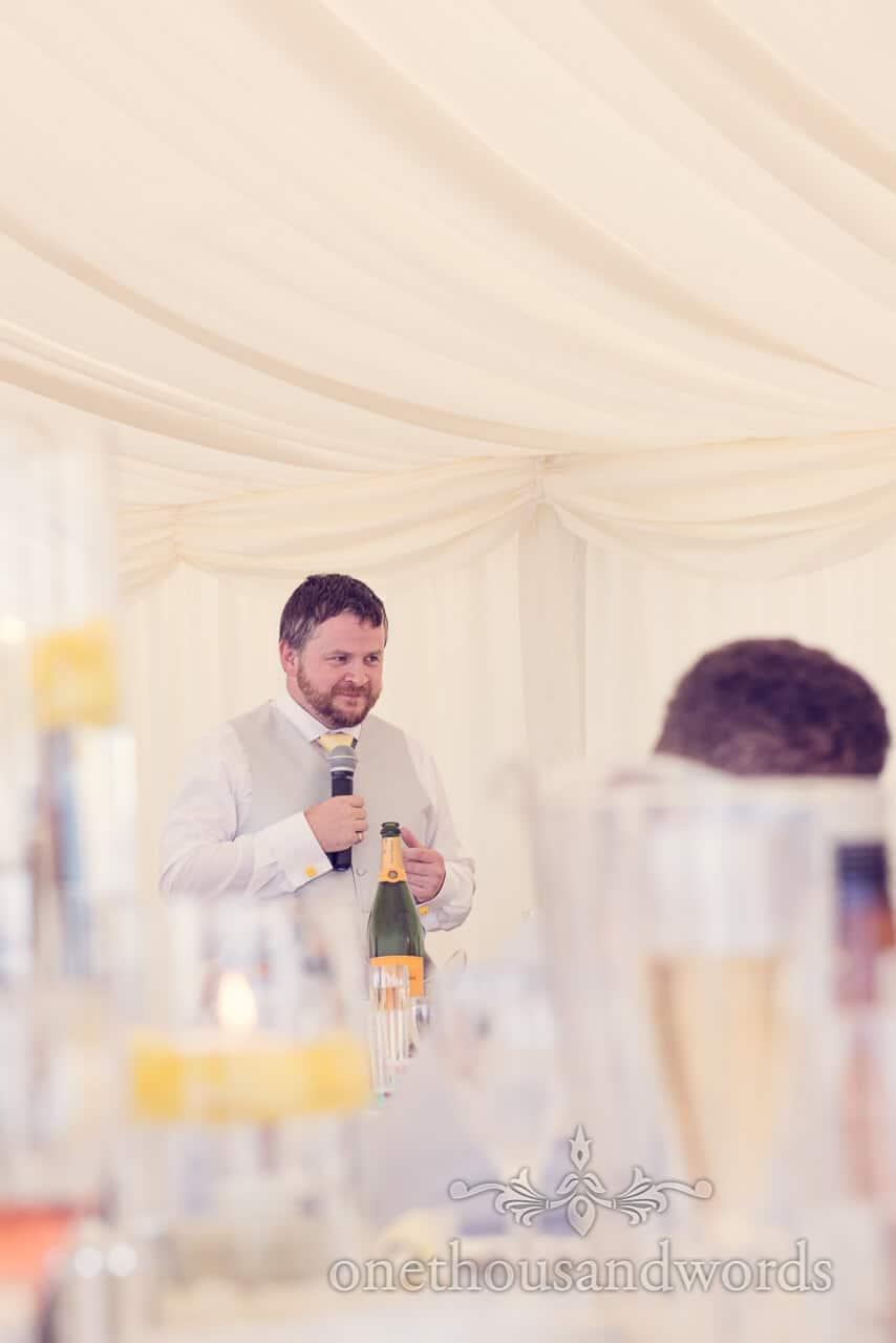Best Man's speech at Bournemouth beach wedding