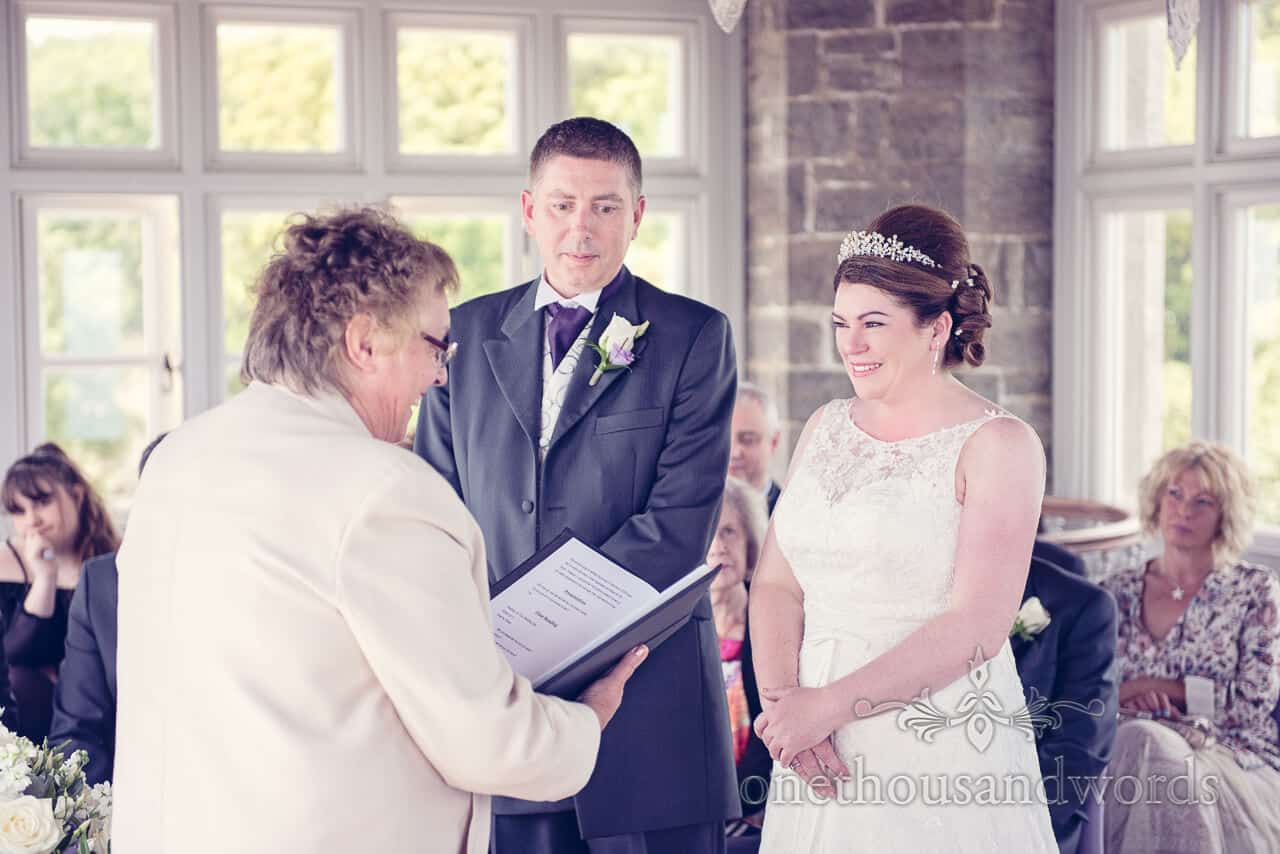 Durlston Castle wedding ceremony in the Belvedere Suite