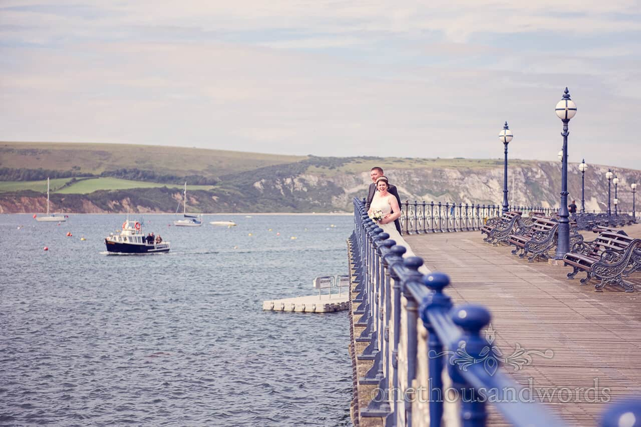 Wedding photograph on Swanage Victorian Pier