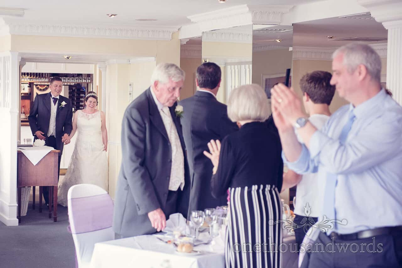 bride and groom entrance Grand Hotel Swanage wedding