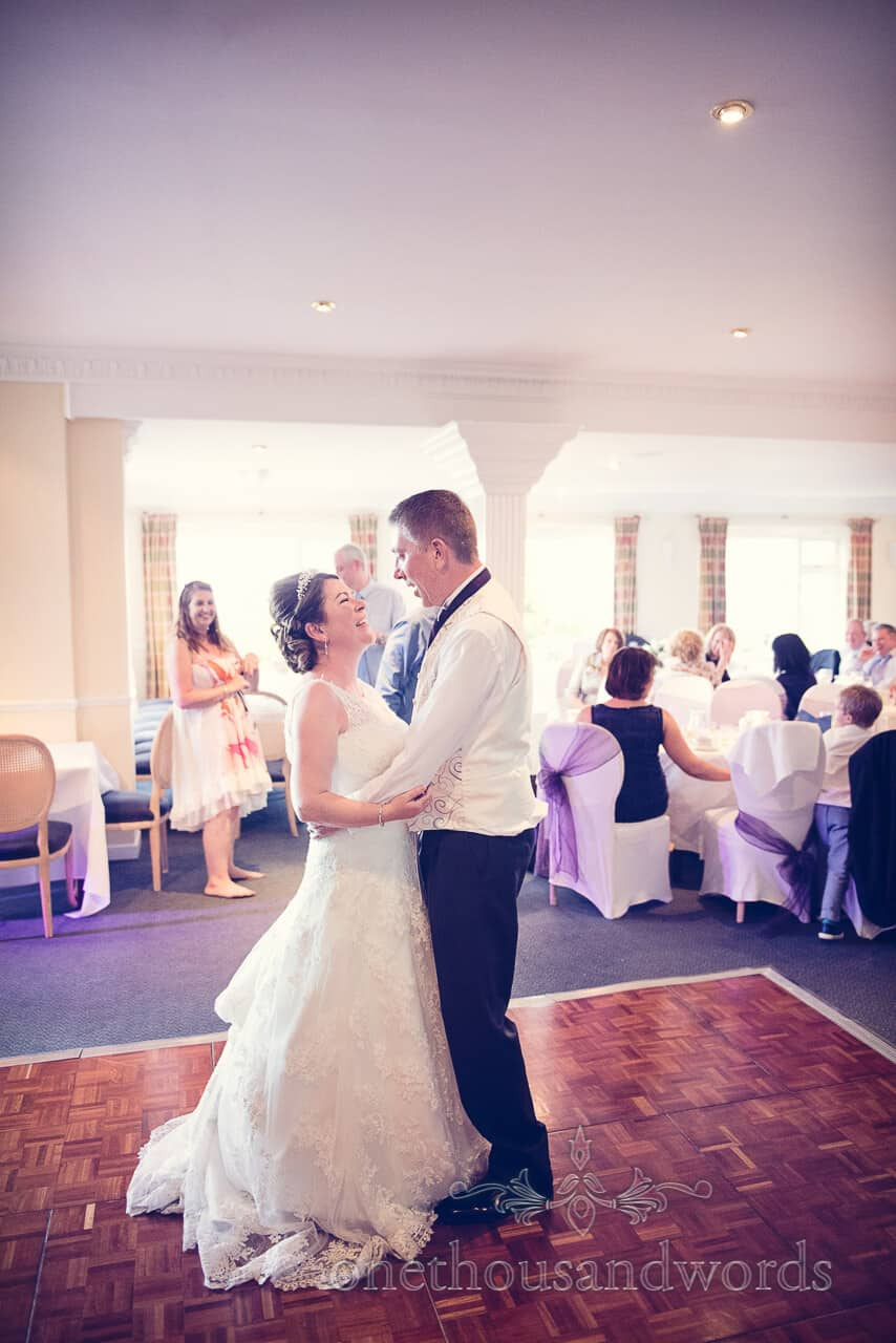 First Dance at Grand Hotel Swanage wedding