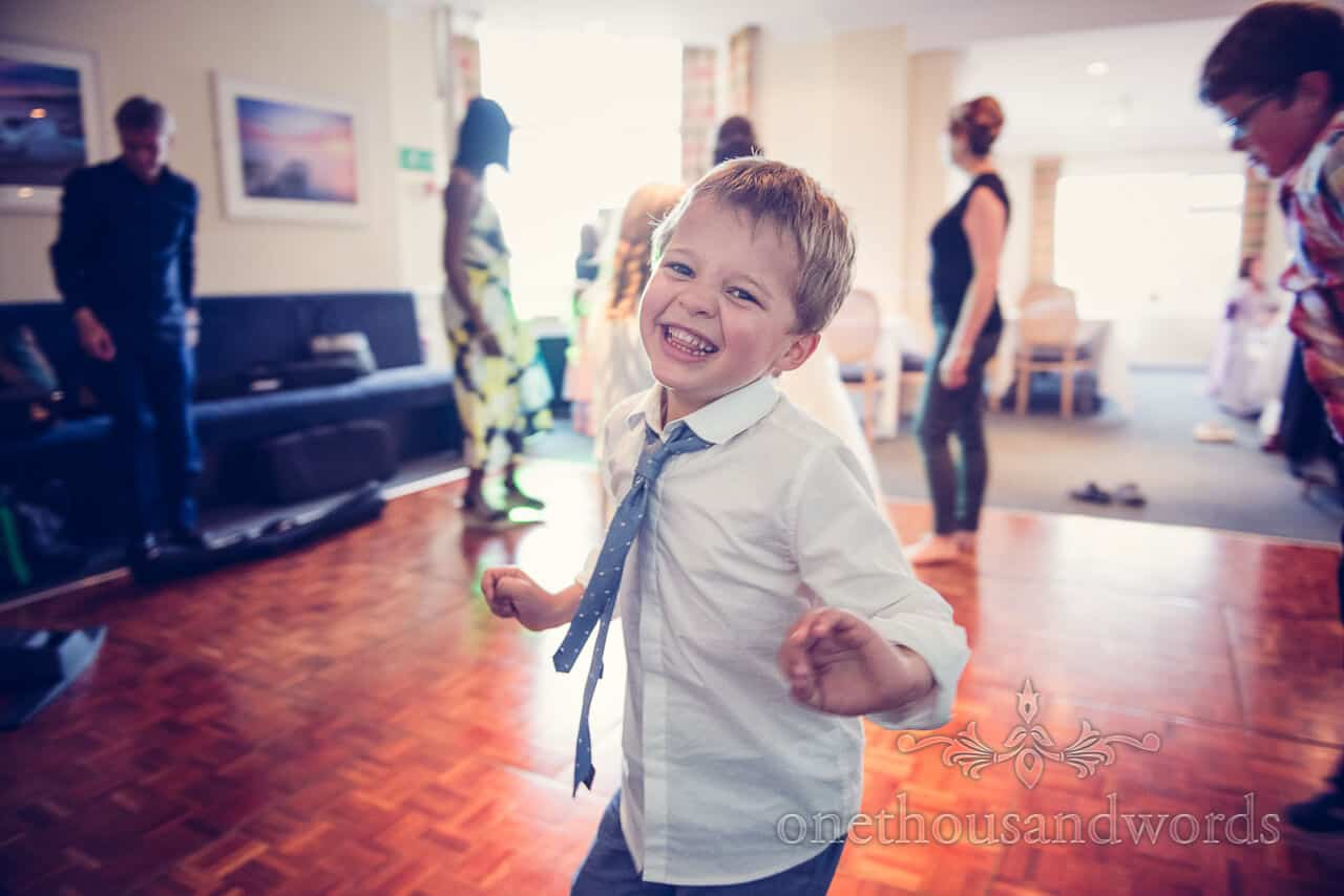 Child wedding guest dancing at The Grand Hotel Swanage