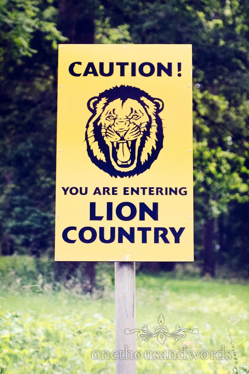 Longleat Lion sign