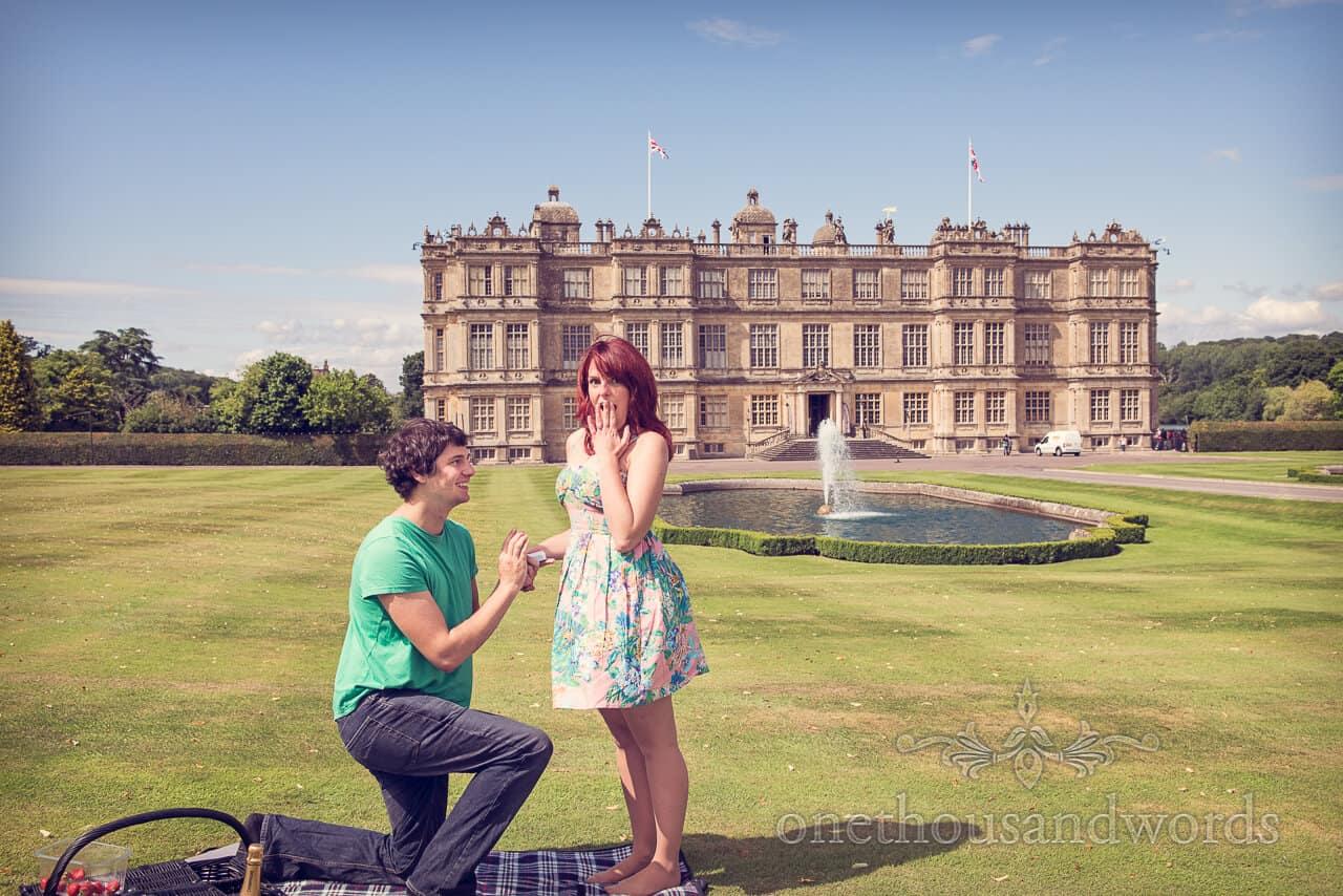Longleat wedding proposal reaction photograph