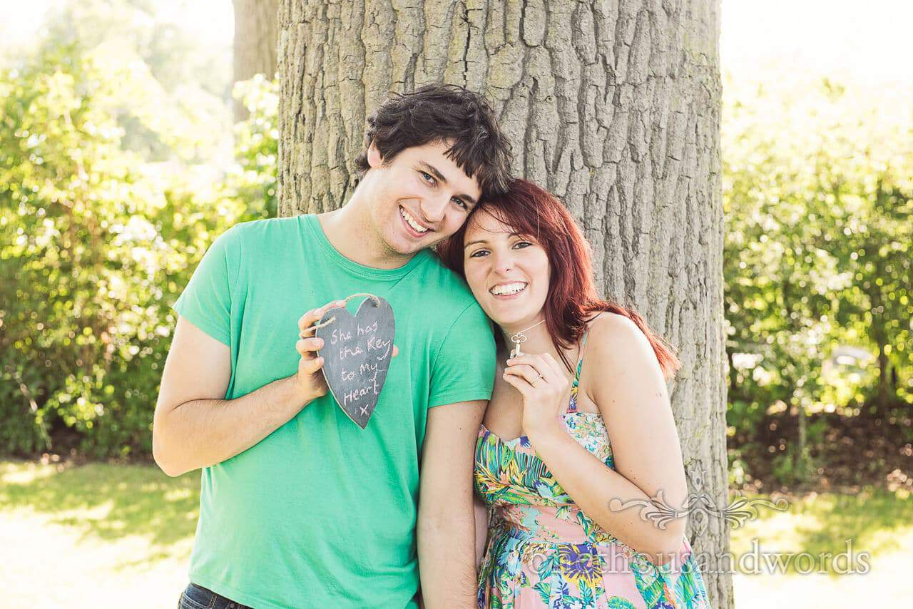 she has the key to my heart engagment photograph at Longleat