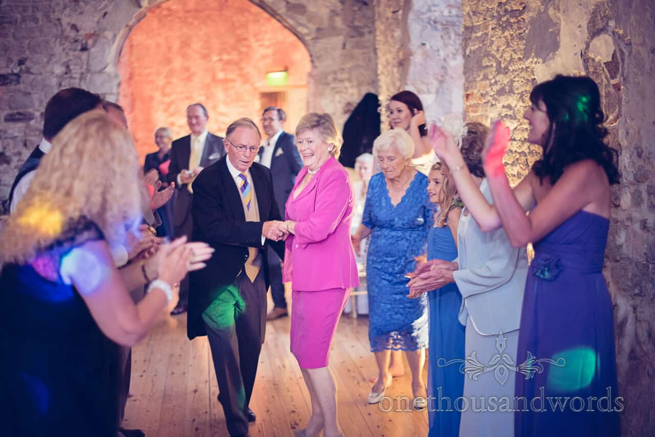 Barn Dance at Lulworth Castle Wedding
