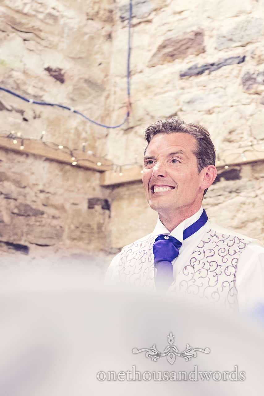 Best Man portrait photograph during speeches