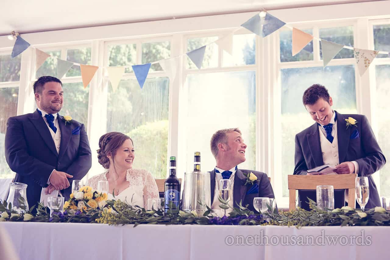 Best Men's speeches at Purbeck House Hotel wedding