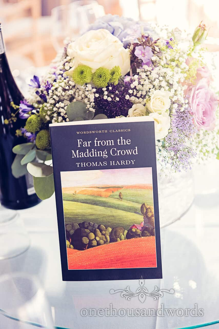 Book table names Lulworth Castle wedding photographs