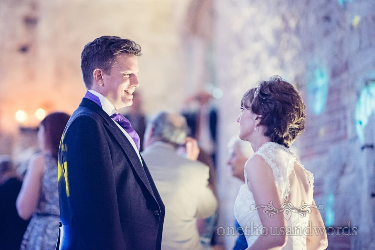 Bride and Groom Dancing at Lulworth Castle Wedding