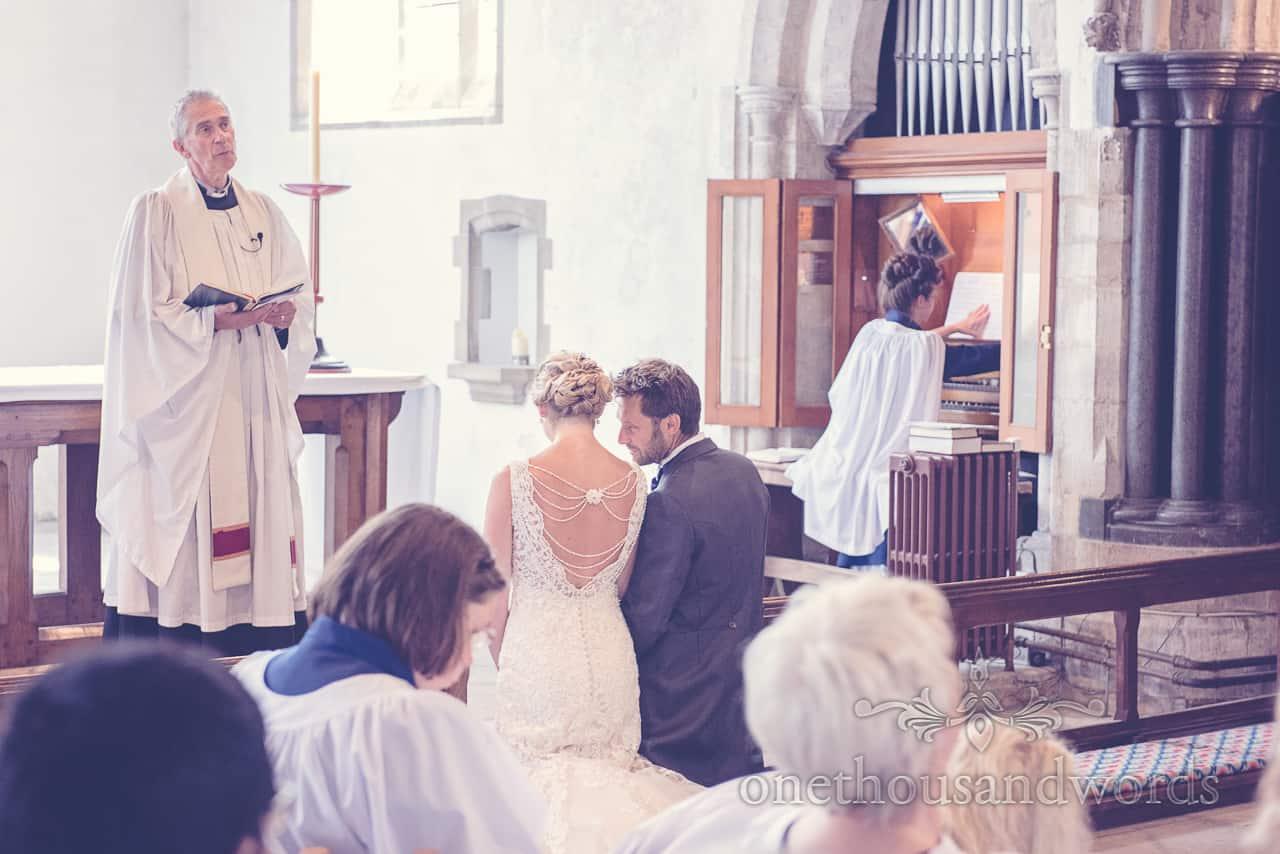 Church Wedding Service in Dorset Wedding Photograph