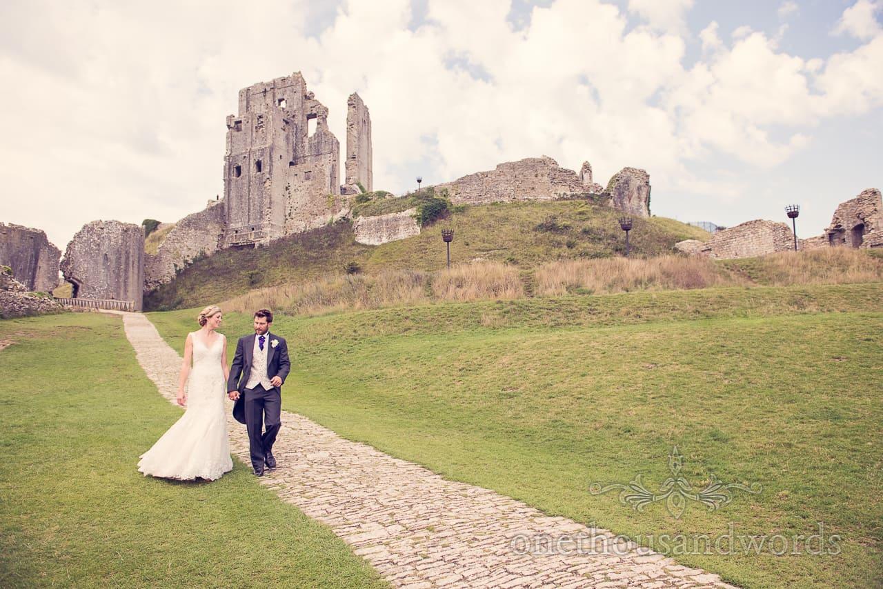 Corfe Castle Wedding Photograph at Wedding in Dorset