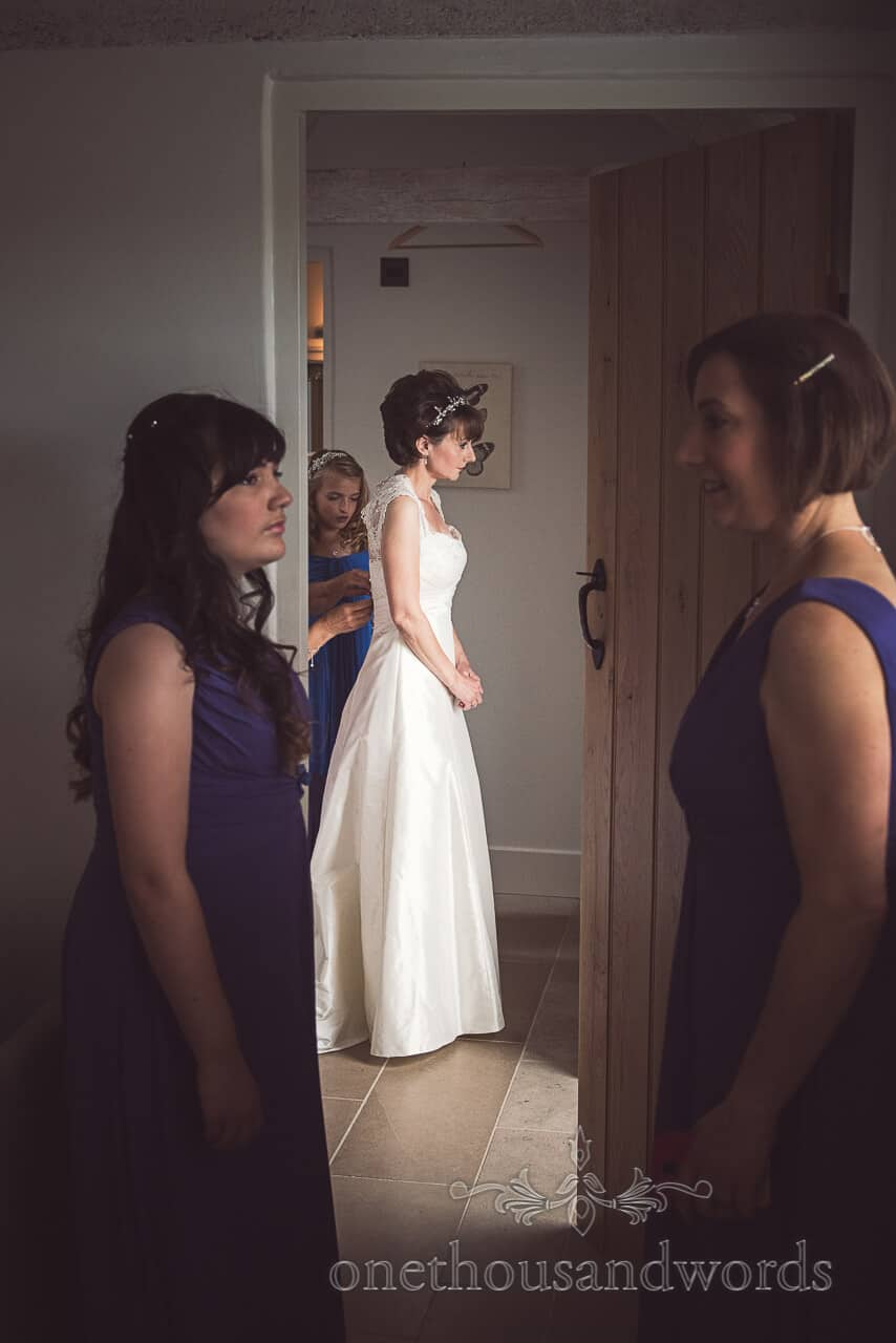 Documentary Wedding Photograph of Bride Preparing