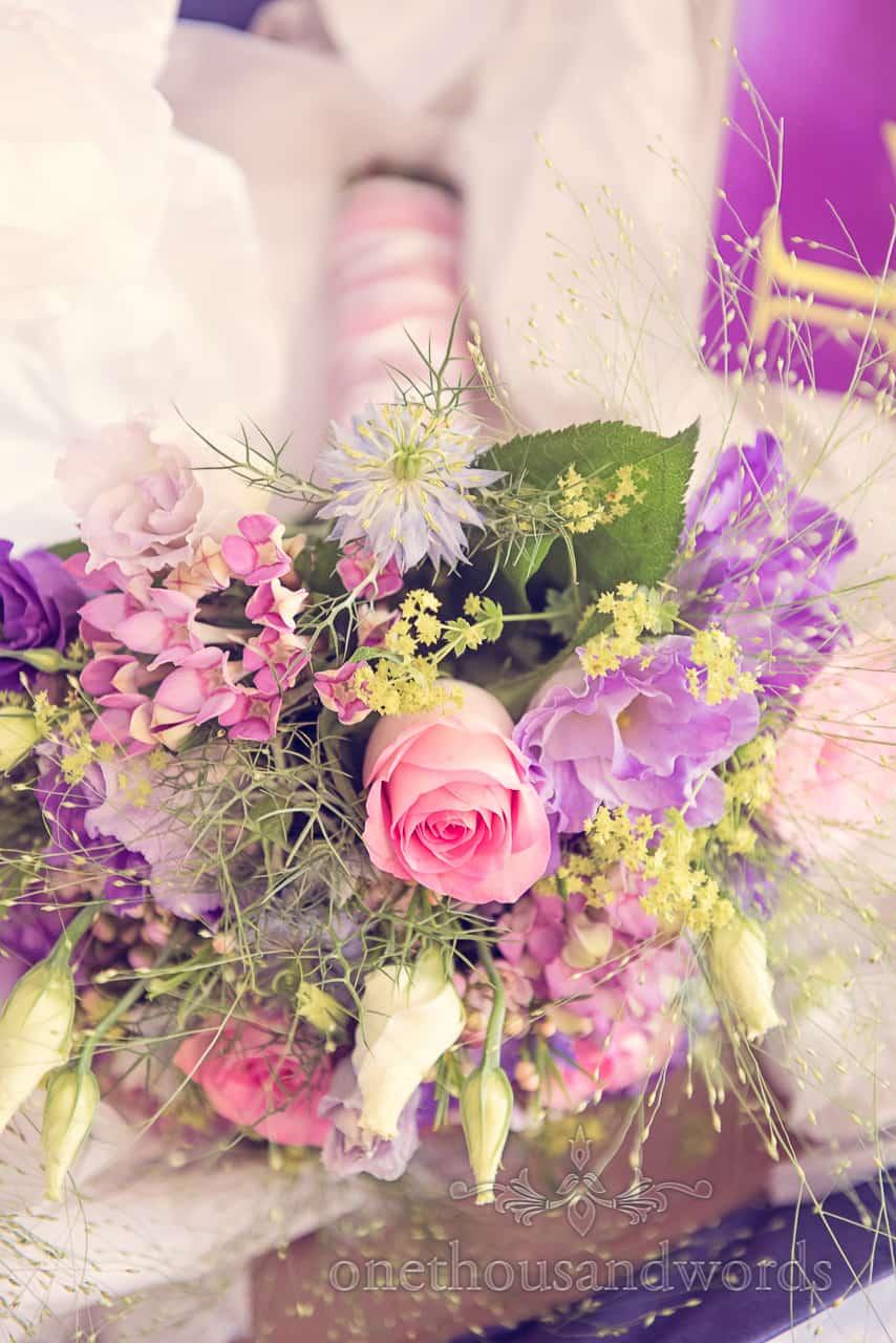 Dorset countryside wedding flowers photograph
