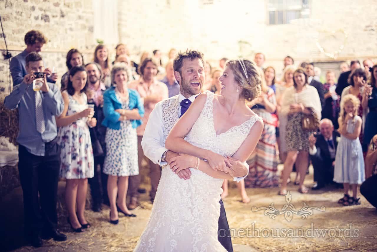 Barn wedding in Dorset First Dance