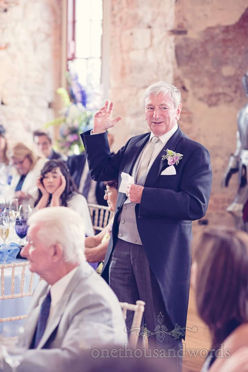 Father of bride speech at Lulworth Castle wedding