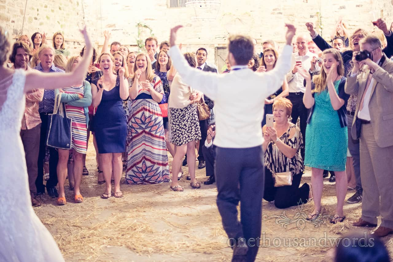 Guests Appalude First Dance at Wedding In Dorset