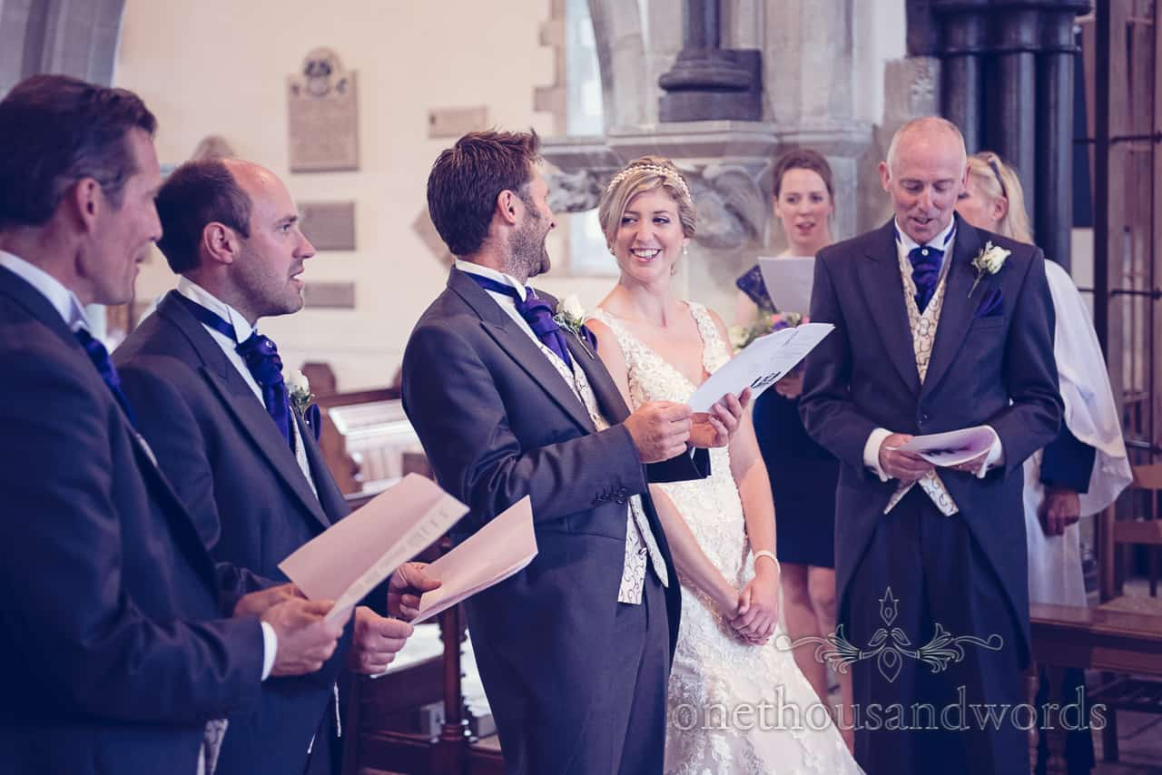Laughter at Church Wedding in Dorset