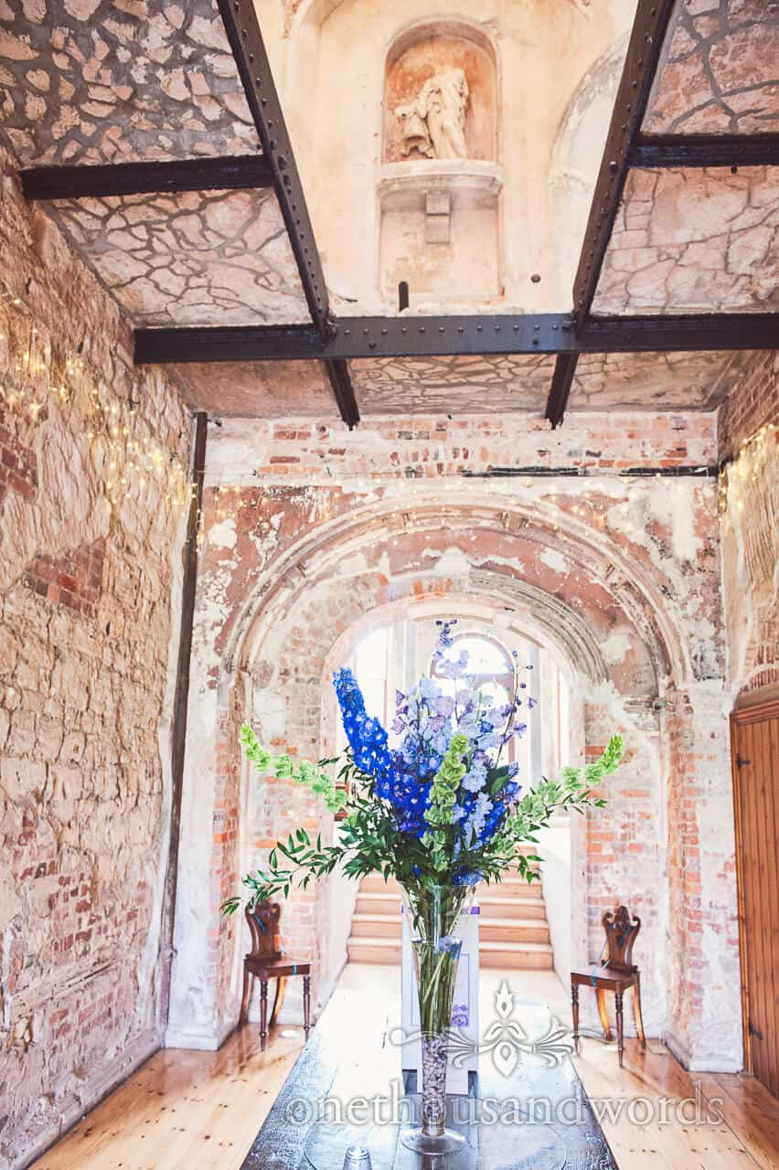 Lulworth Castle Wedding Flowers Photograph