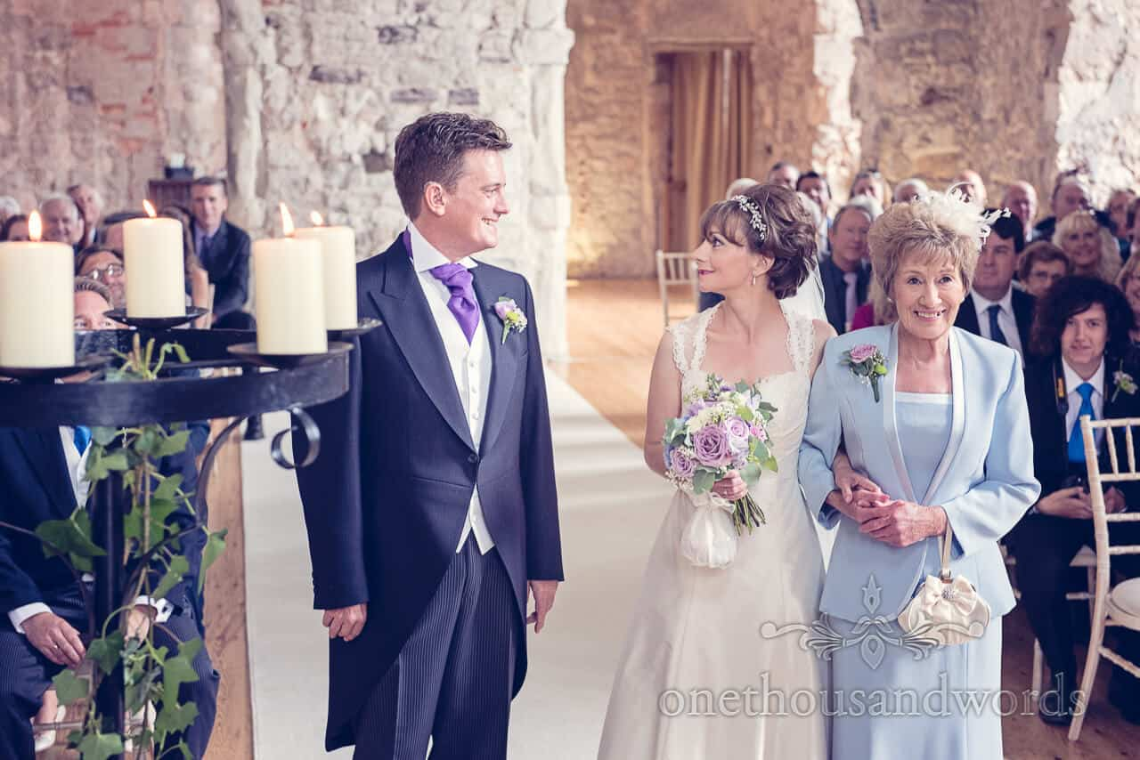 Bride & Groom first look at Lulworth Castle wedding