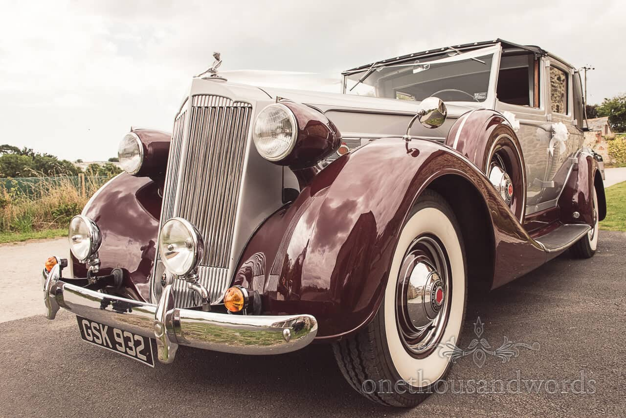 Packard Super 8 Wedding Car Lulworth Castle Wedding