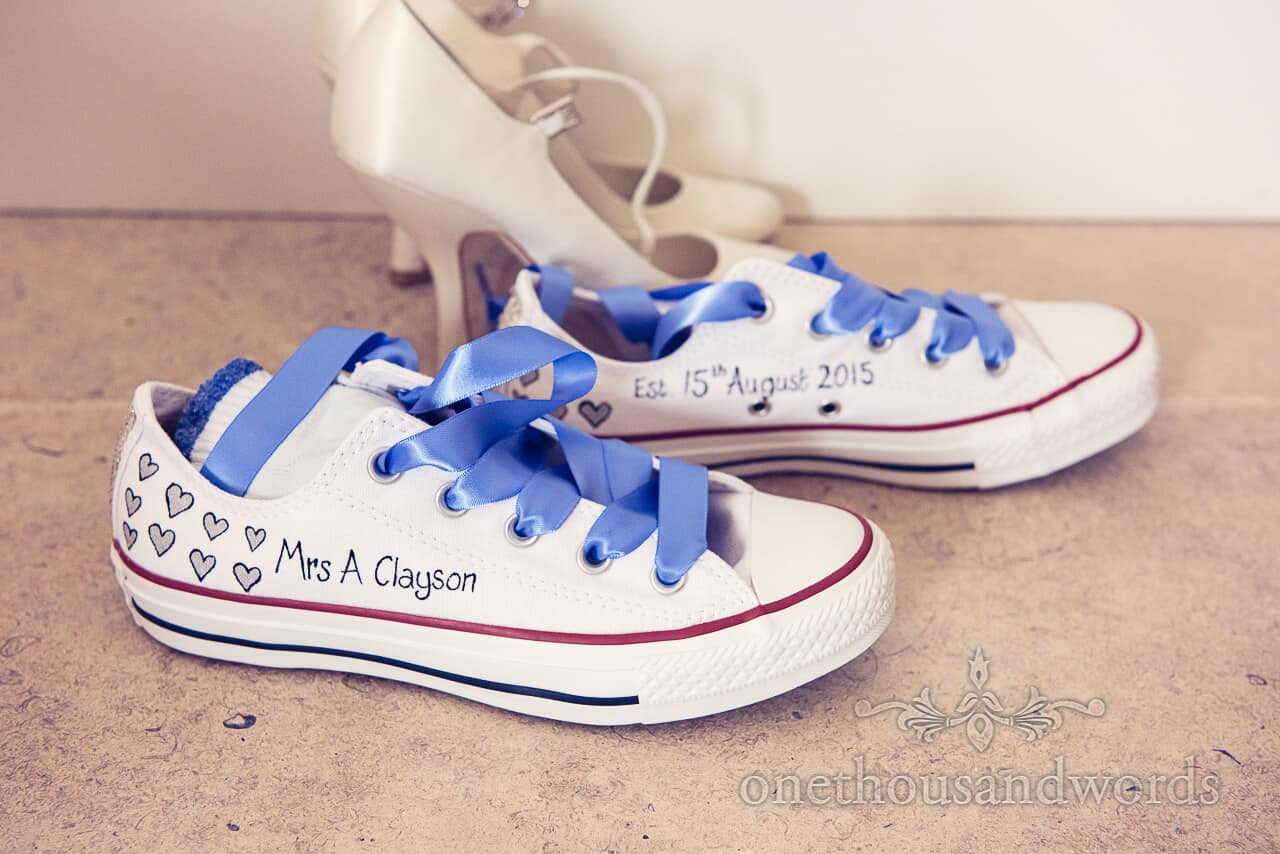 Personalised Wedding Trainers with Wedding Shoes
