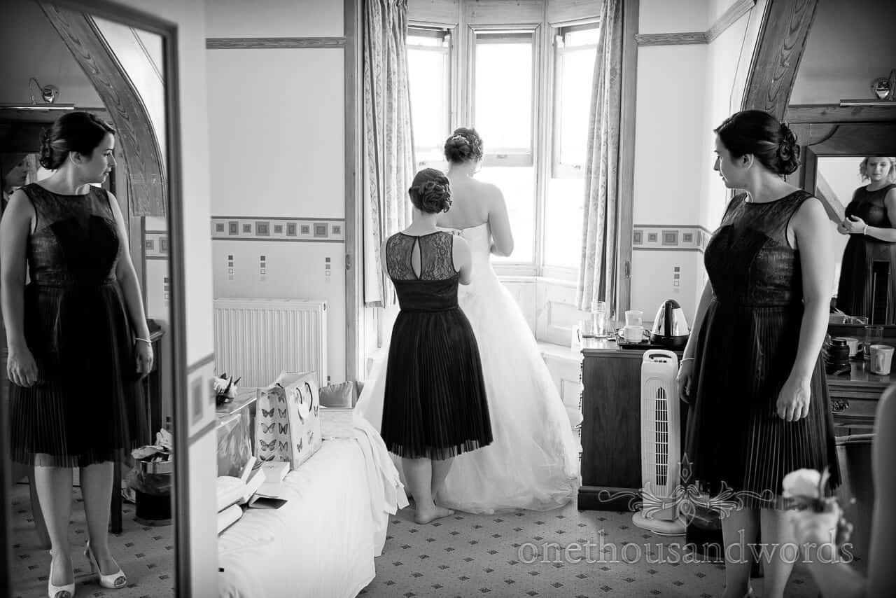 Purbeck House Hotel Wedding dress preparation