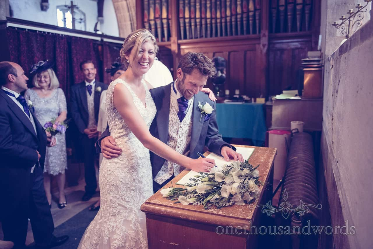 Signing the Register at St Edwards Church in Corfe