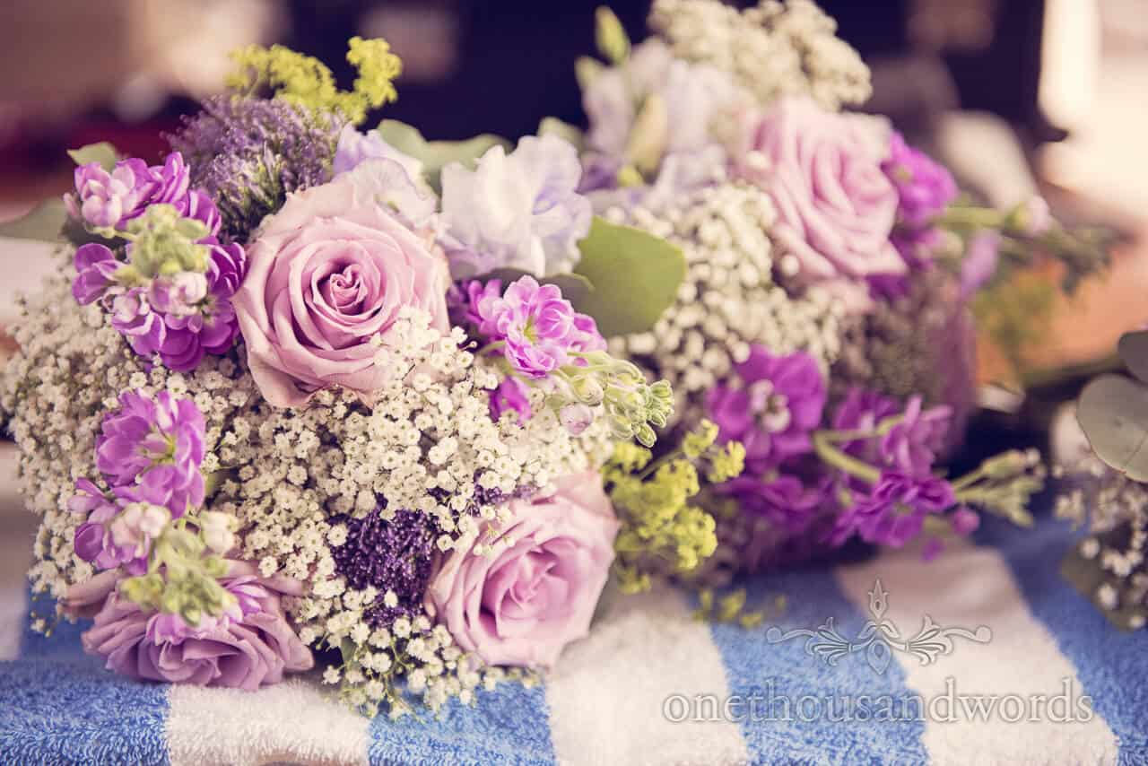 Soft Purple Wedding Flowers at Lulworth Castle Wedding