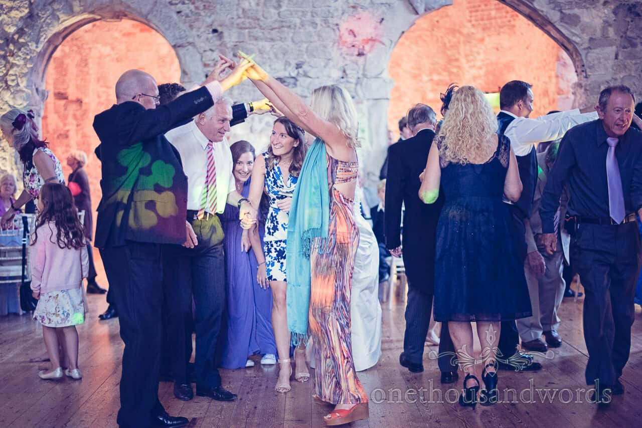 Wedding Barn Dance Photograph at Lulworth Castle
